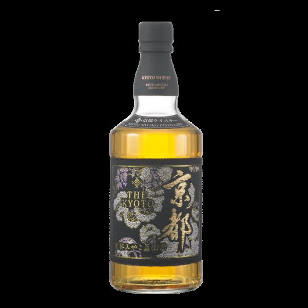 京都ウイスキー 西陣織黒帯(ラベル)
